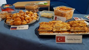 Teil des internationalen Buffets
